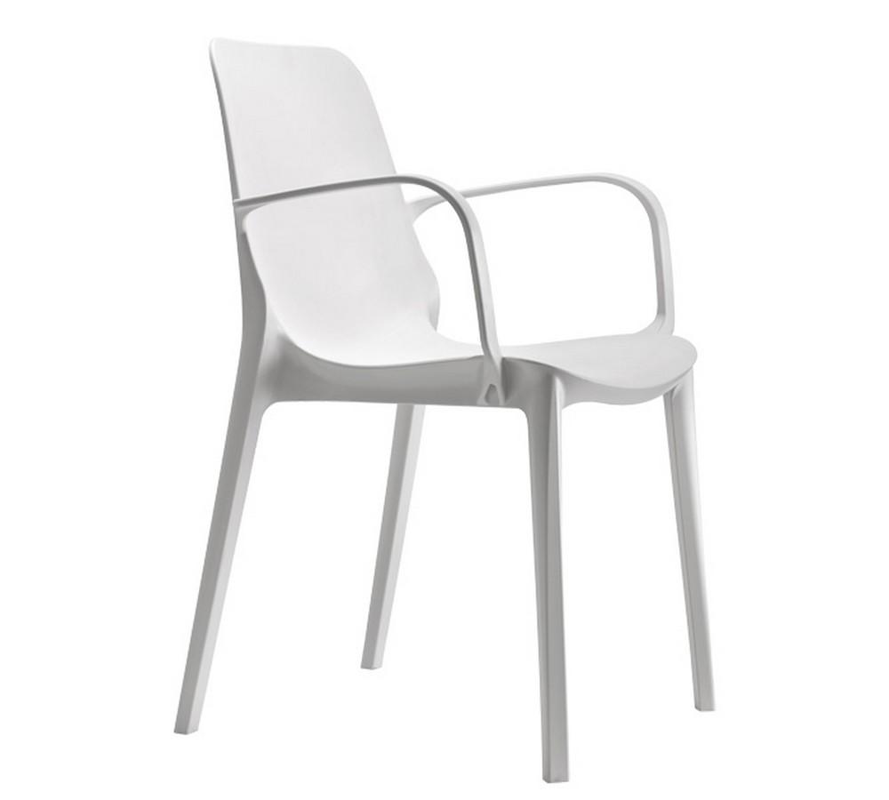 Sedia in plastica impilabile ginevra di scab design da for Sedia design faccia
