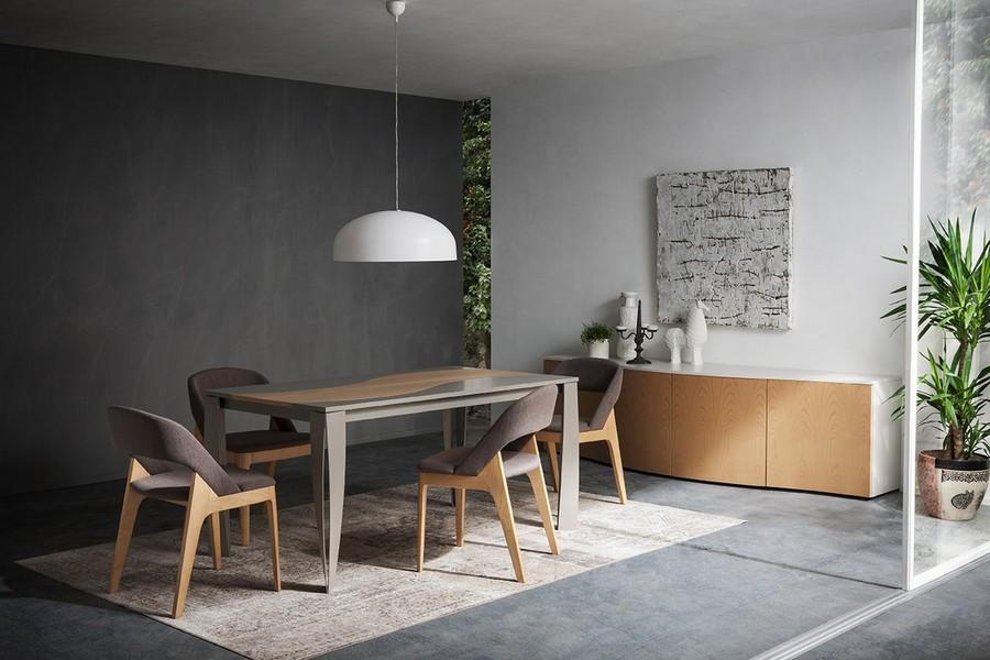 Sedia Imbottita Design : Sedia imbottita con gambe in legno ninfea di napol