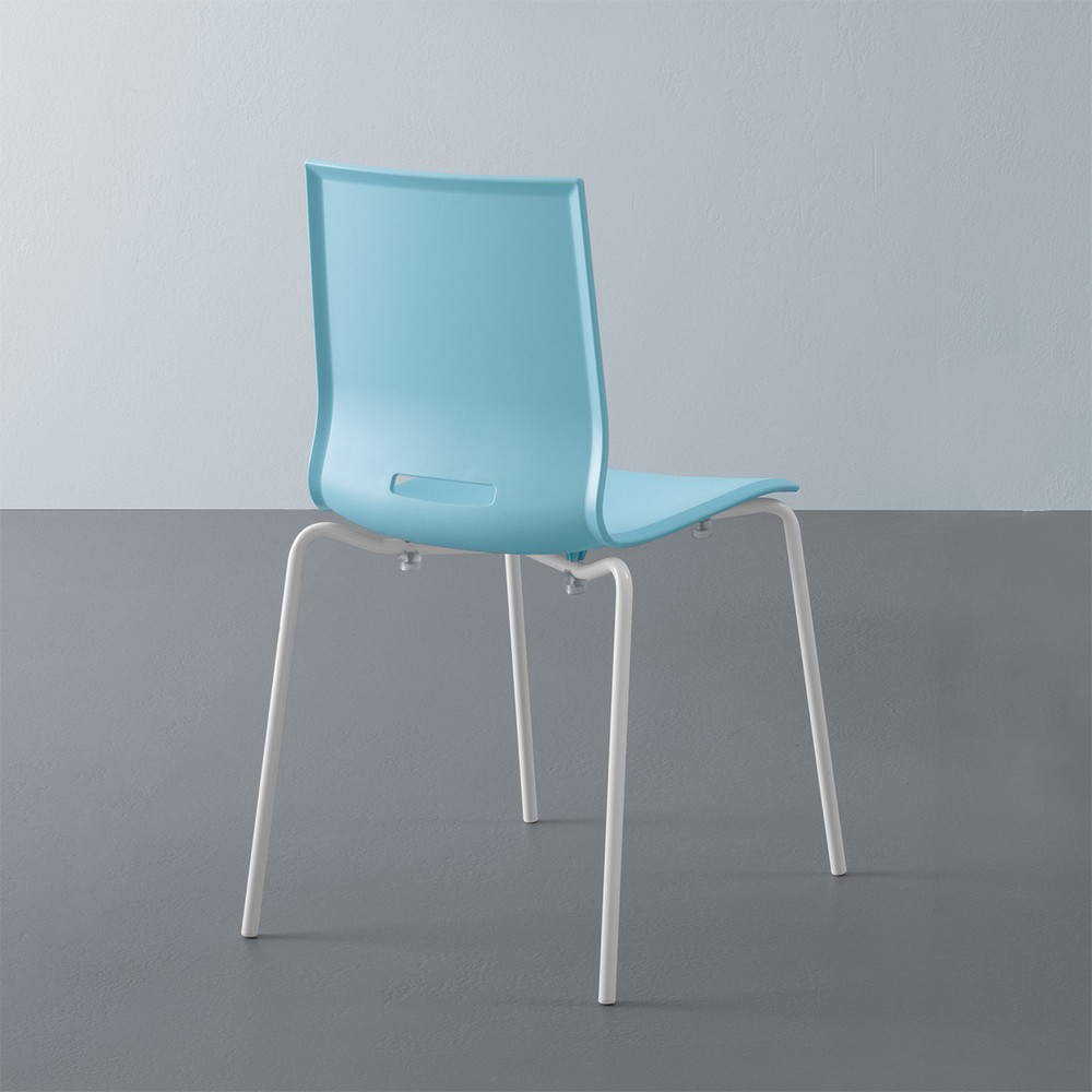 Chair Elena 2 with metal frame and polypropylene seat