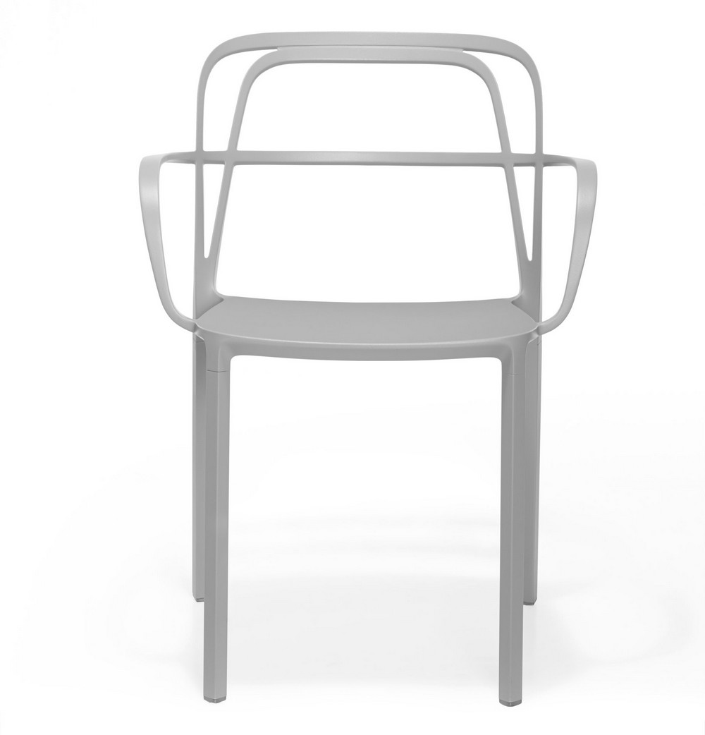Aluminium chair Intrigue of Pedrali Stackable in different colors