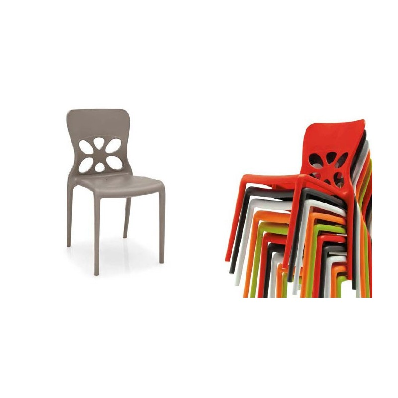 stackable polypropylene chair suitable for outdoor use neon calligaris