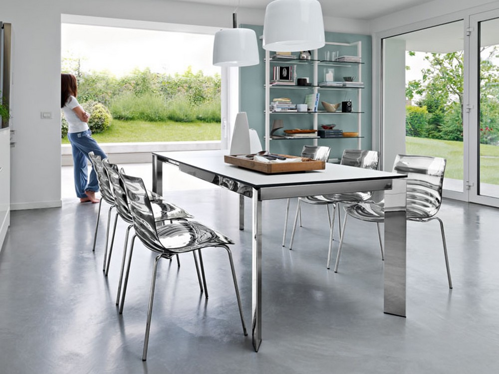 Sedia l 39 eau di calligaris in metallo e tecnopolimero in for Poltrone calligaris