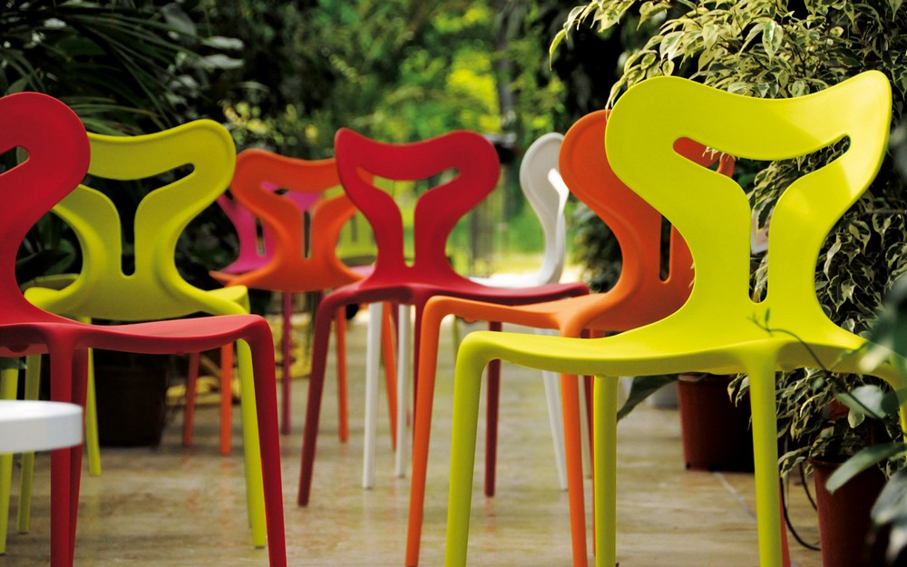 Plastic stacking chair Area51 Calligaris polypropylene Outdoor