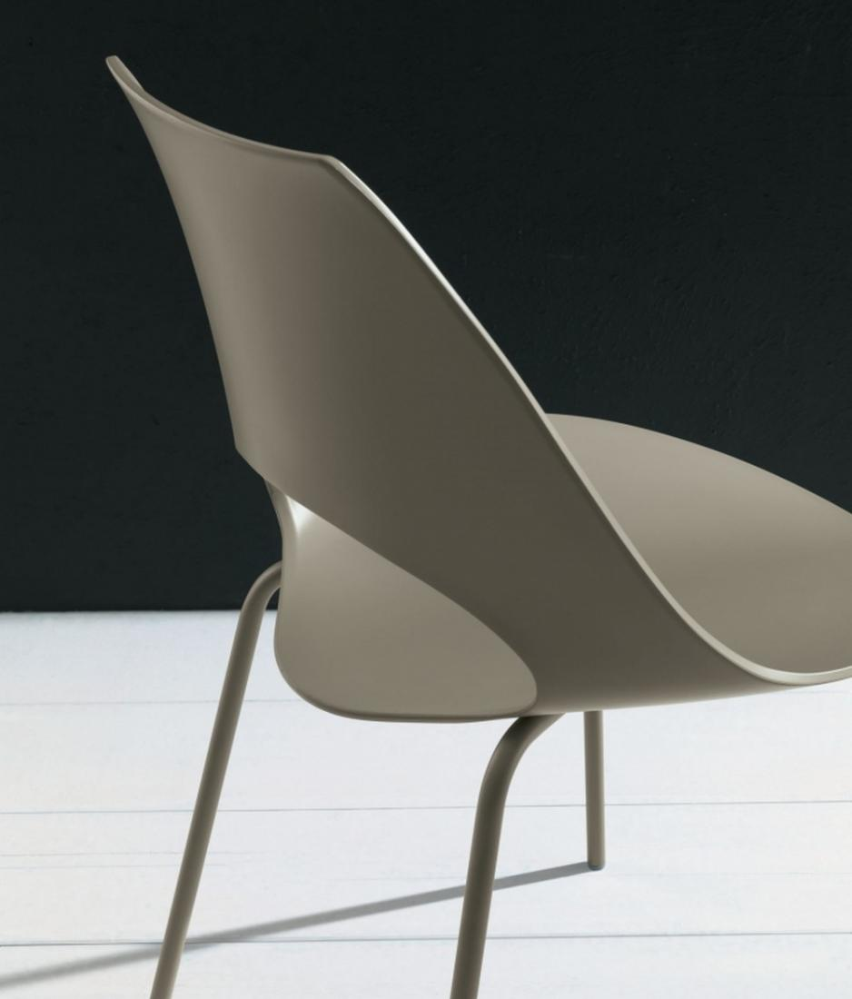 Shark Bontempi Chair With Metal Structure And