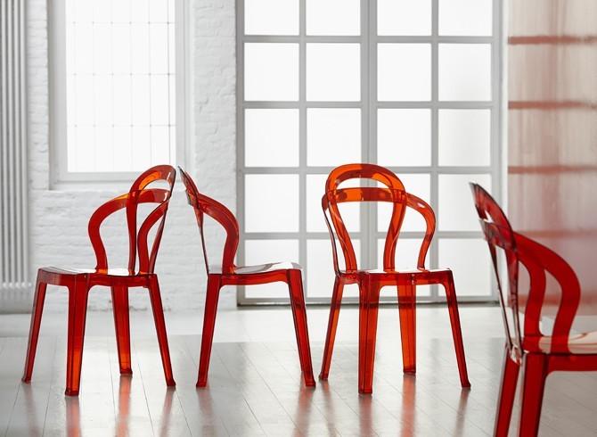 Sedia tit di scab design impilabile in plastica in for La sedia nel design