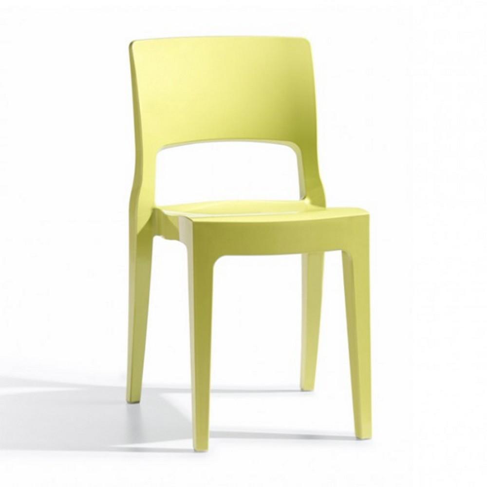 sedia isy tecnopolimero di scab design impilabile per