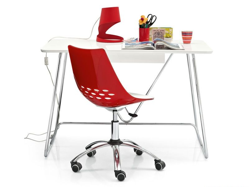 Jam cb 623 chair with wheels by calligaris in two colored technopolymer - Sedia con ruote ikea ...