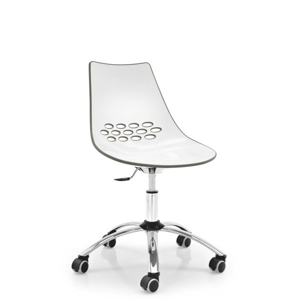 chair jam cb   calligaris in twotone wheels polymer - jam chair with wheels calligaris plastic