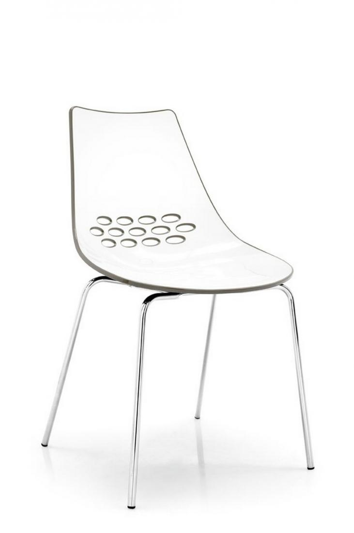 jam connubia calligaris chair in modern and colorful twotone  - calligaris jam chair in plastic