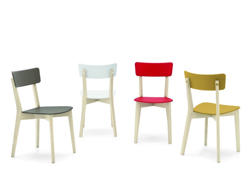 Sedia jelly in legno e polipropilene di connubia calligaris - Tavolo olivia pocket calligaris ...