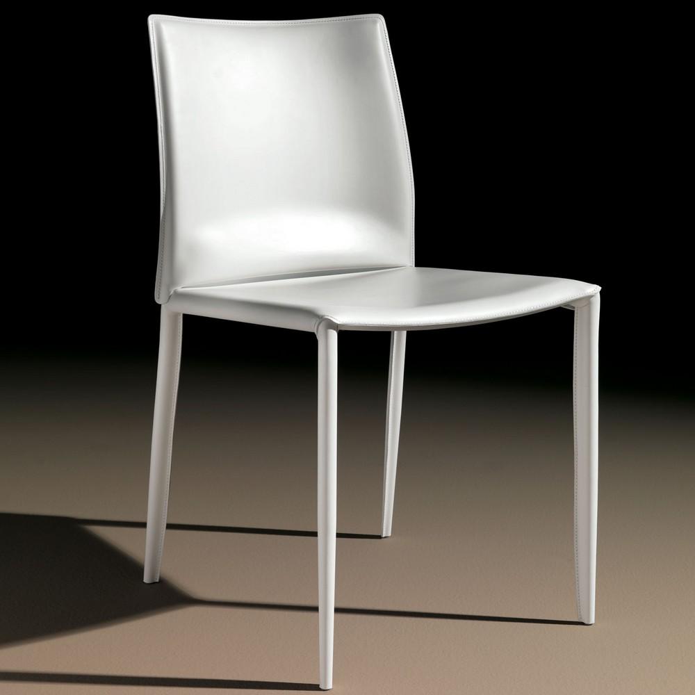 Sedia linda di bontempi con struttura in acciaio for Sedie in cuoio