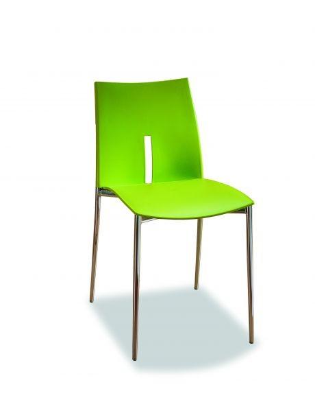 Sedia impilabile lyra di ingenia bontempi struttura in acciaio for Sedia di design