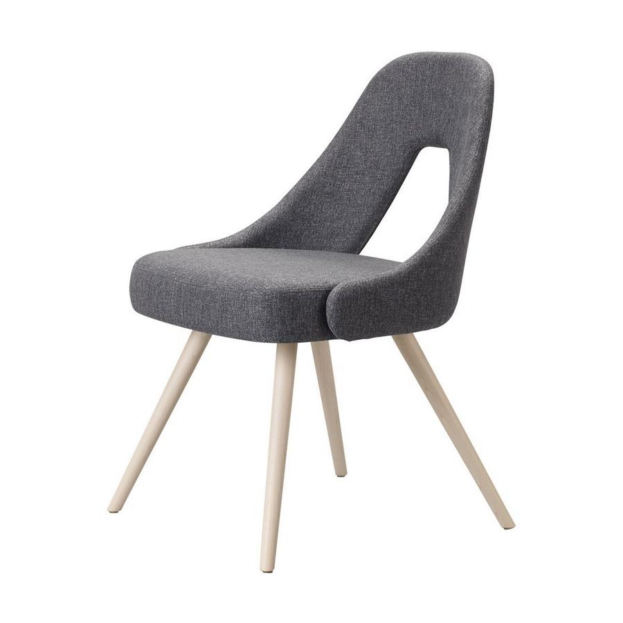 Sedia me di scab design con cambe in legno massello for Sedie design tessuto