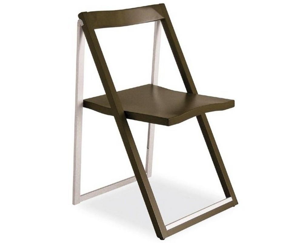 Skip chair by calligaris foldable in aluminum and wood in several