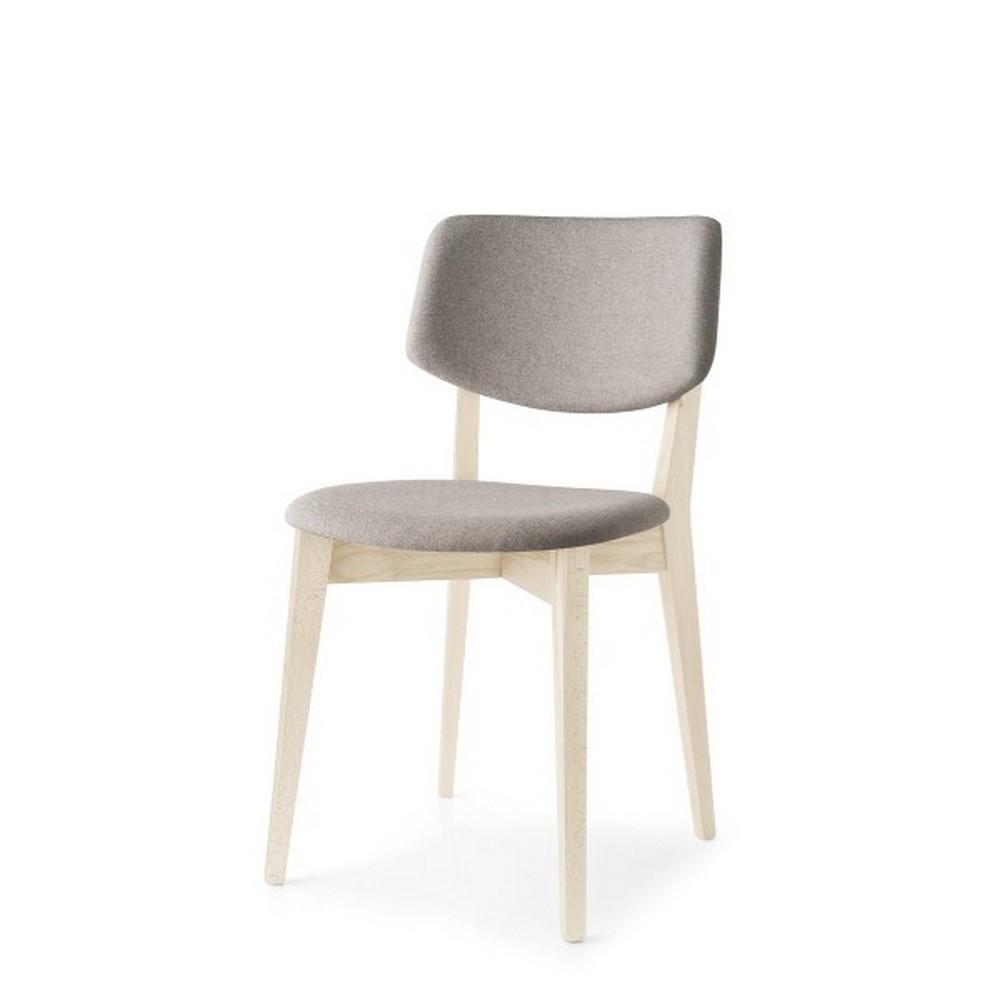 Sedia robin di calligaris con struttura legno e seduta in for Sedie design tessuto