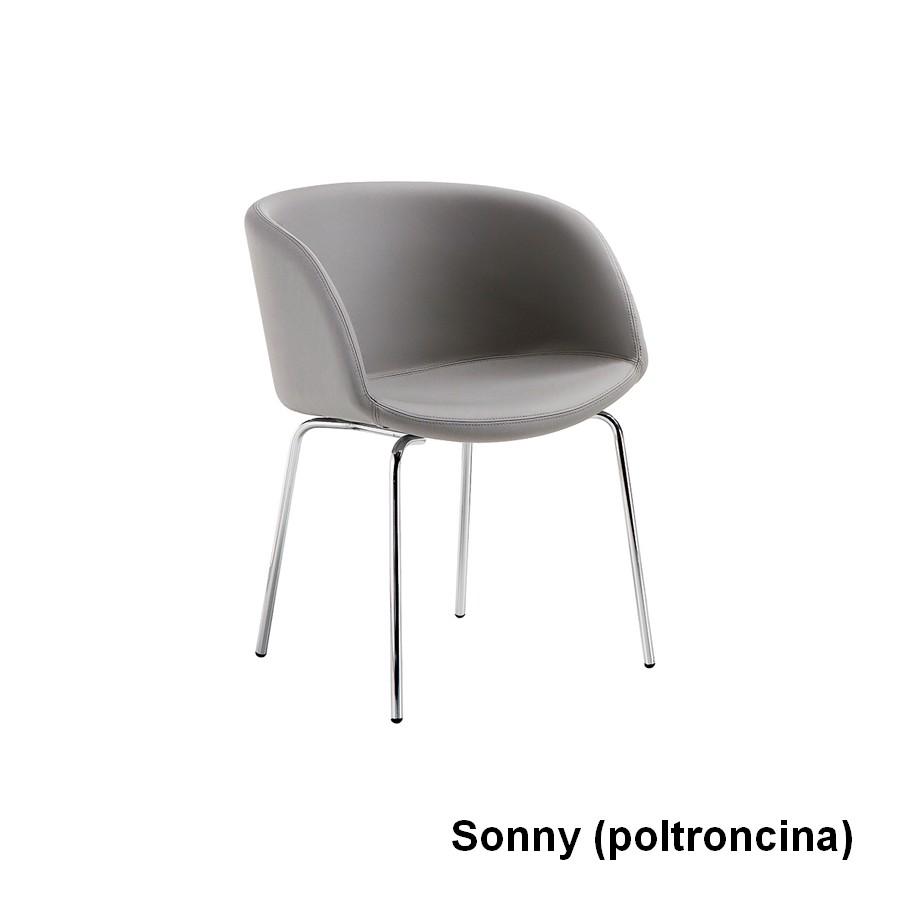Sedia Sonny di Midj con struttura in acciaio o legno rivestita in ...