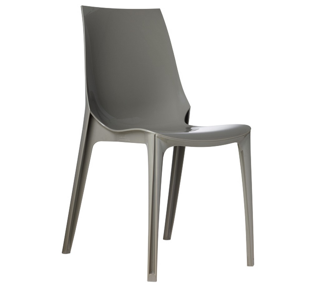 Sedia impilabile in plastica vanity chair di scab design for Sedie design grigie