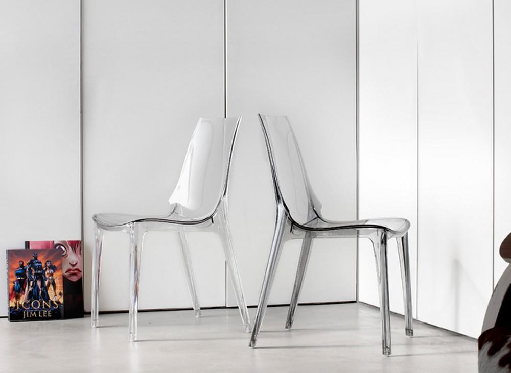 Sedia impilabile in plastica vanity chair di scab design for Sgabelli trasparenti