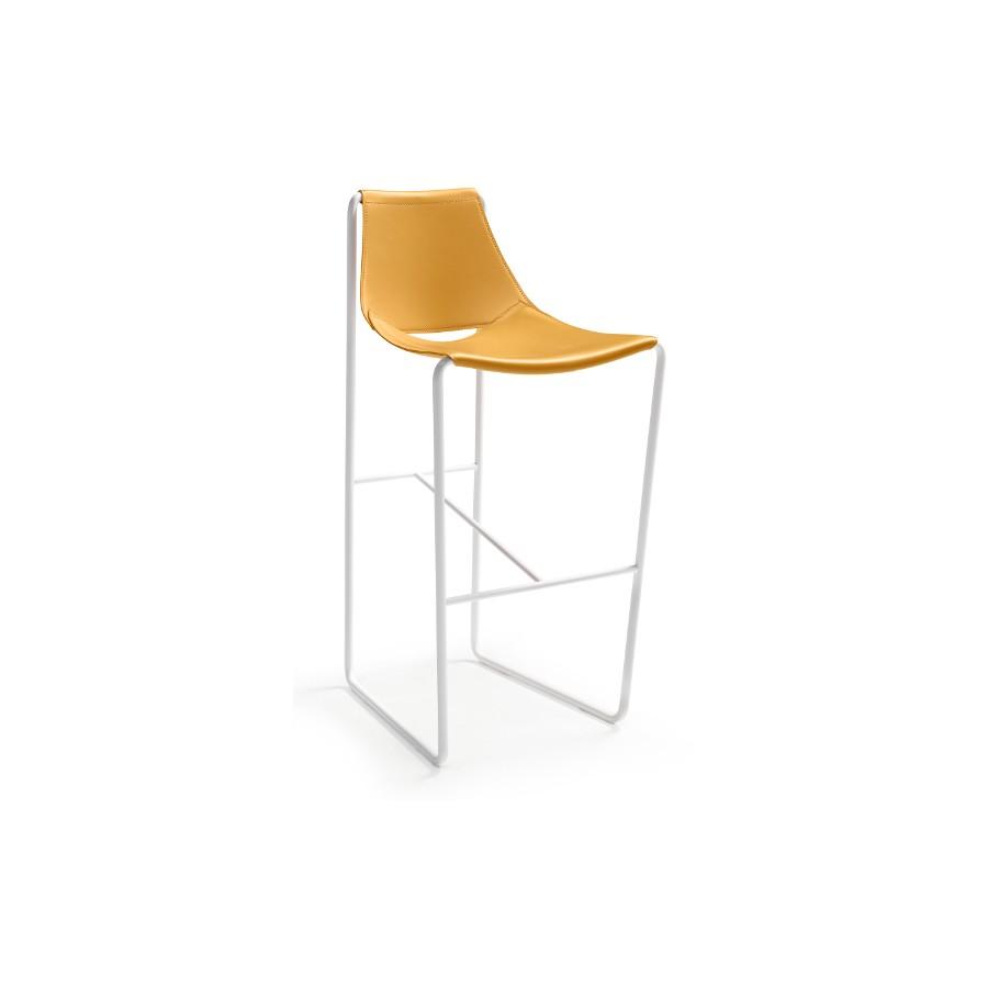 Sgabello Cuoio Design Apelle Midj : Sgabello apelle di midj con elegante seduta in cuoio e