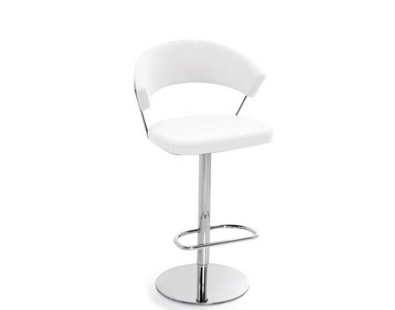 New york swivel padded and adjustable height stool by connubia
