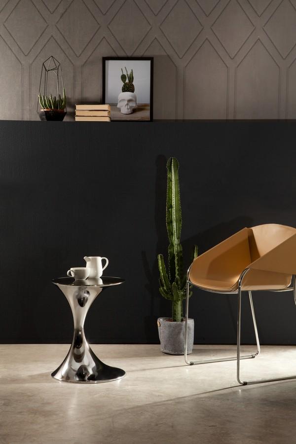 Tavolino andorra di tonin casa con base in metallo piano - Tavolini tonin casa ...