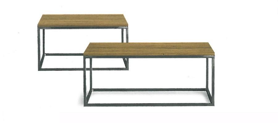 Tavolino di Altacorte da soggiorno con struttura in ferro