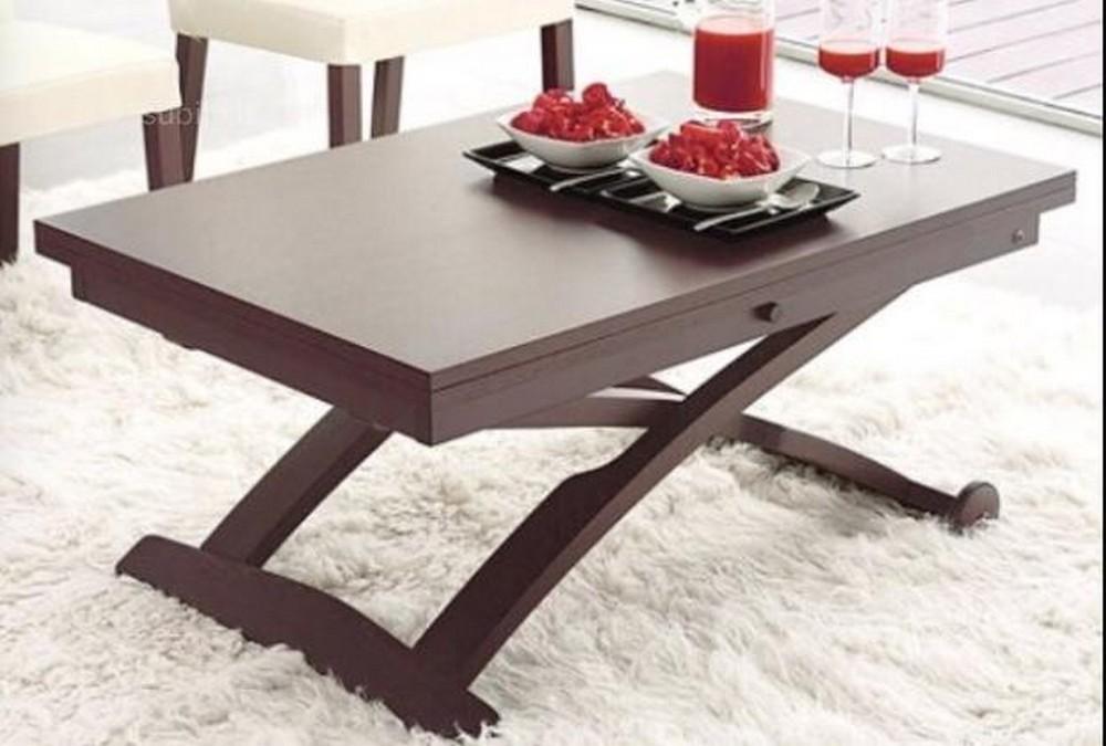Tavolino in legno trasformabile da salotto mascotte for Tavolini trasformabili ikea