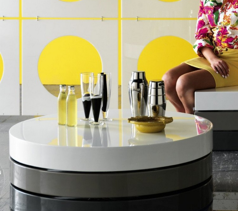 tavolino salotto bianco laccato: tavolino da soggiorno milo. - Tavolino Soggiorno Apribile 2