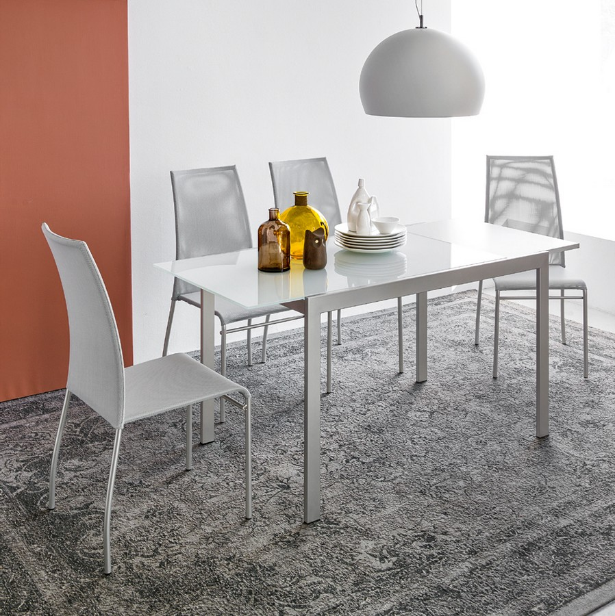 Tavolo aladino di connubia by calligaris allungabile con for Tavolo allungabile calligaris