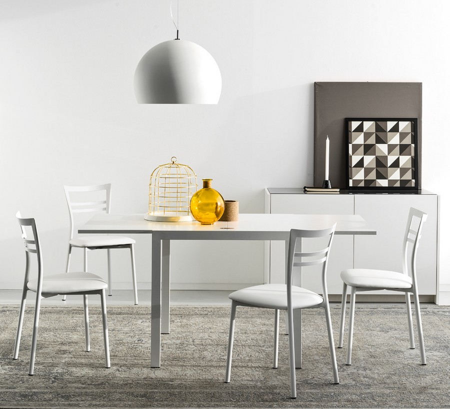 Tavolo aladino di connubia by calligaris allungabile con for Calligaris tavolo allungabile