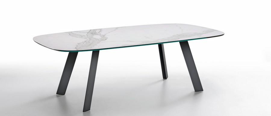 Tavolo alexander di midi fisso o allungabile con struttura in acciaio - Tavolo legno e acciaio ...