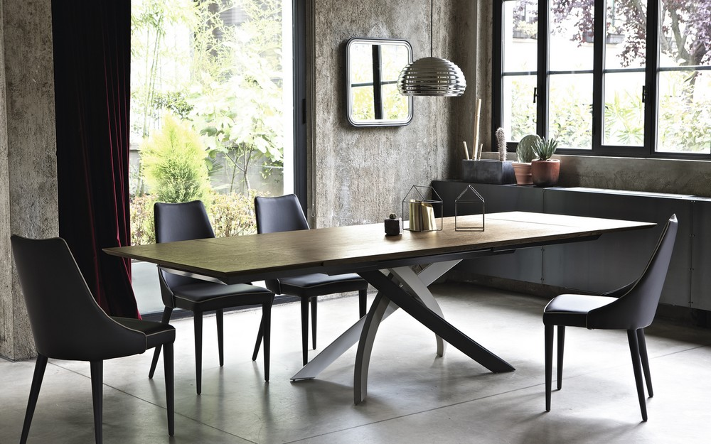 tavolo allungabile artistico di bontempi struttura acciaio laccato ... - Tavolo Allungabile Design Moderno