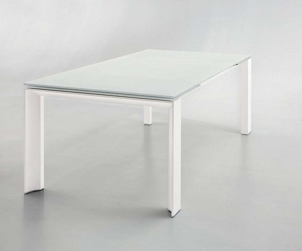 Tavoli di cristallo allungabili tavolo mago di bontempi for Tavolo vetro satinato
