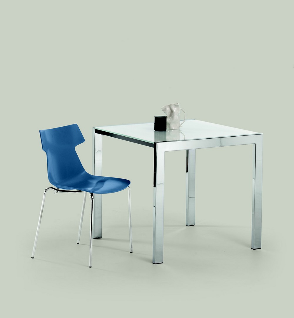 Extensible table ciak of ingenia bontempi square or for Petite table extensible