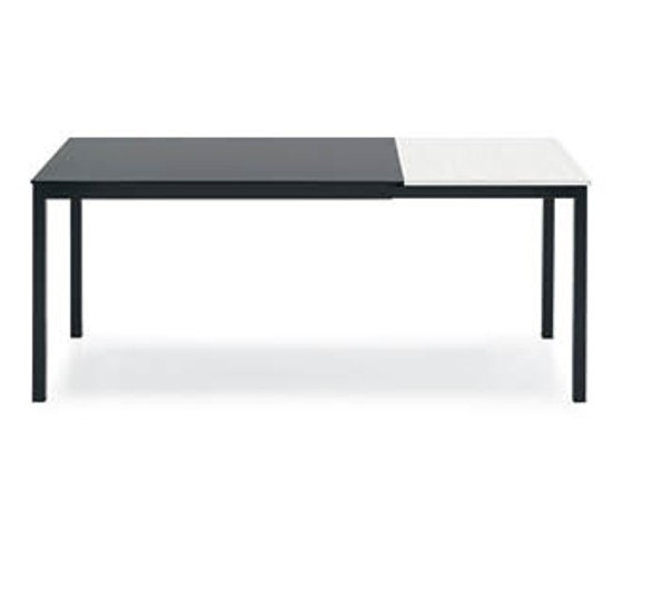 Extendable table snap connubia with metal glass top structure for Table 120 extensible