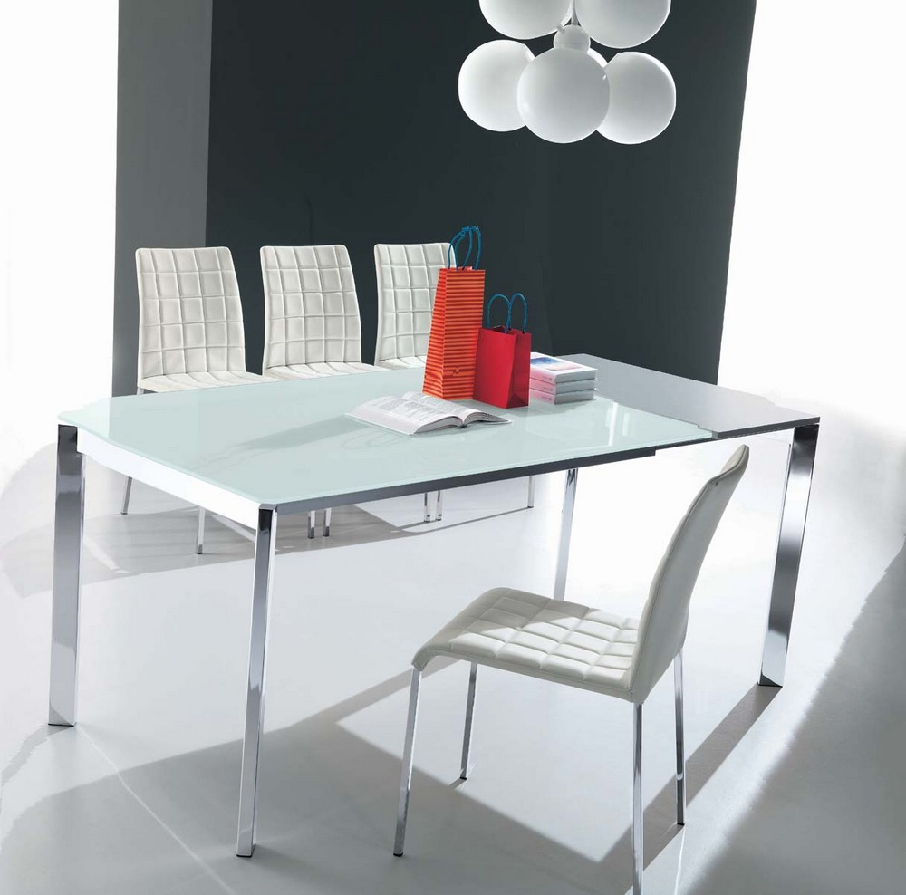 Tavolo allungabile seico di ingenia bontempi con struttura for Tavolo rettangolare allungabile