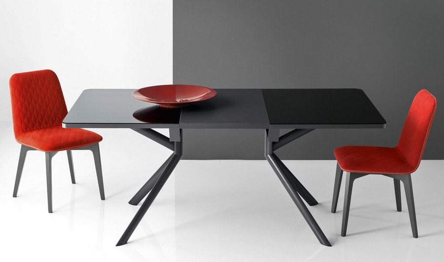 Tavolo allugabile giove di connubia by calligaris con for Tavolo calligaris vetro temperato