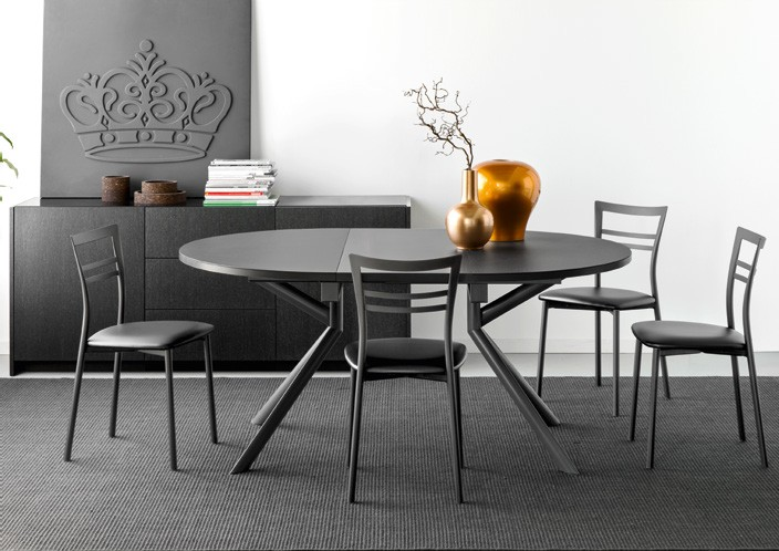 Tavolo allugabile giove di connubia by calligaris con for Tavolo ovale allungabile calligaris