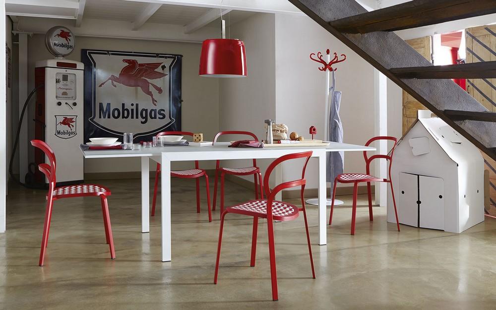 Tavoli Quadrati Allungabili Calligaris : Table calligaris key extending glass steel structure plan