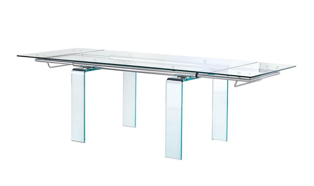 servetto cristallo gambe acciaio : ... di Midj con gambe in cristallo o in acciaio il piano in cristallo