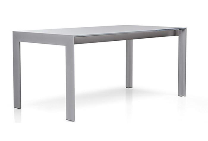 Tavolo allungabile matrix tma pedrali con struttura in acciaio e piano in vetro - Tavolo con piano in vetro ...