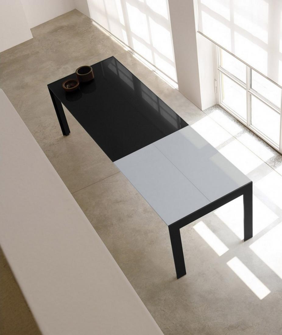 Tavolo allungabile matrix tma pedrali con struttura in - Piano tavolo vetro ...