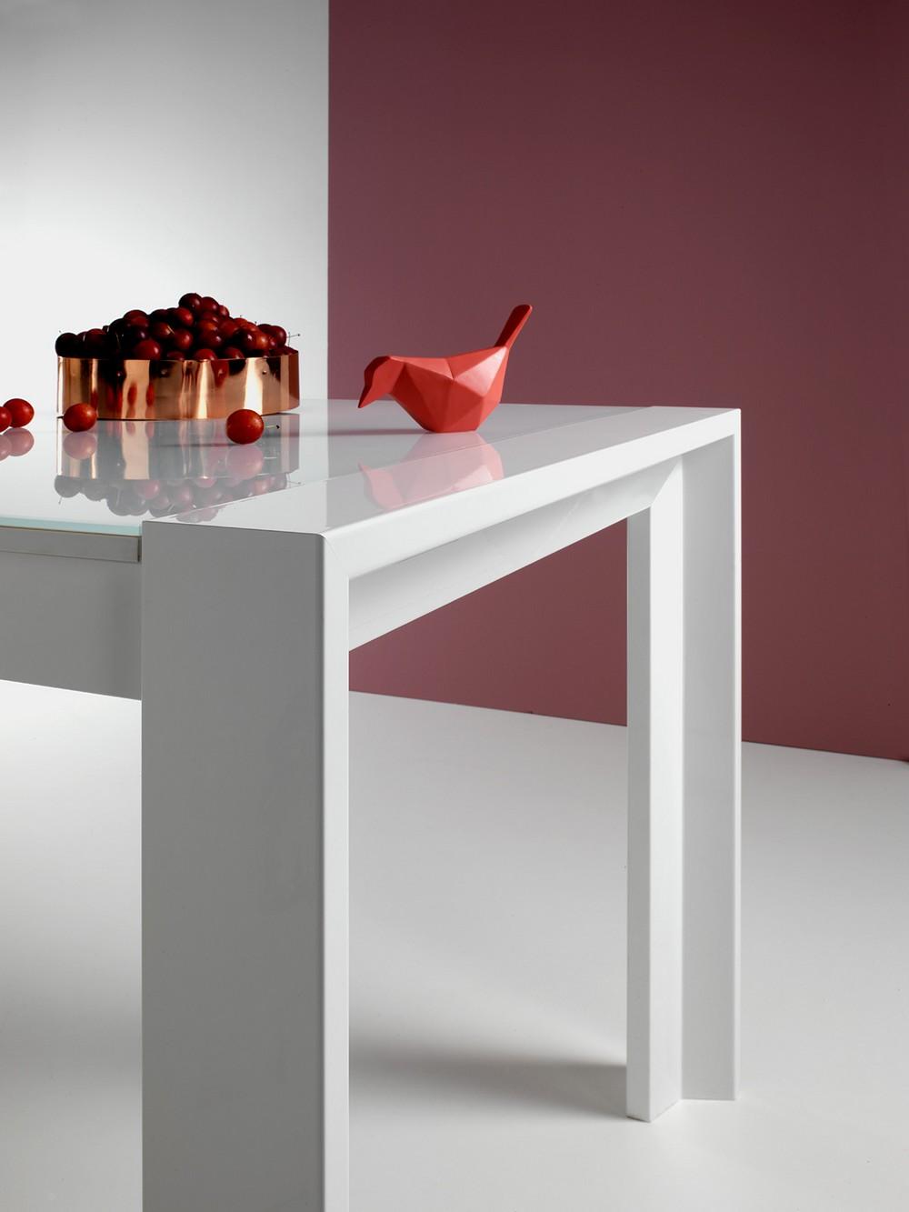 Tavolo allungabile milano long 180 point house con piano - Tavolo di vetro allungabile ...