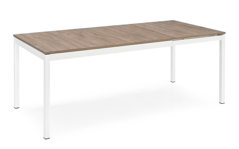 Snap calligaris extendable table with metal wood floor for Tavolo snap calligaris