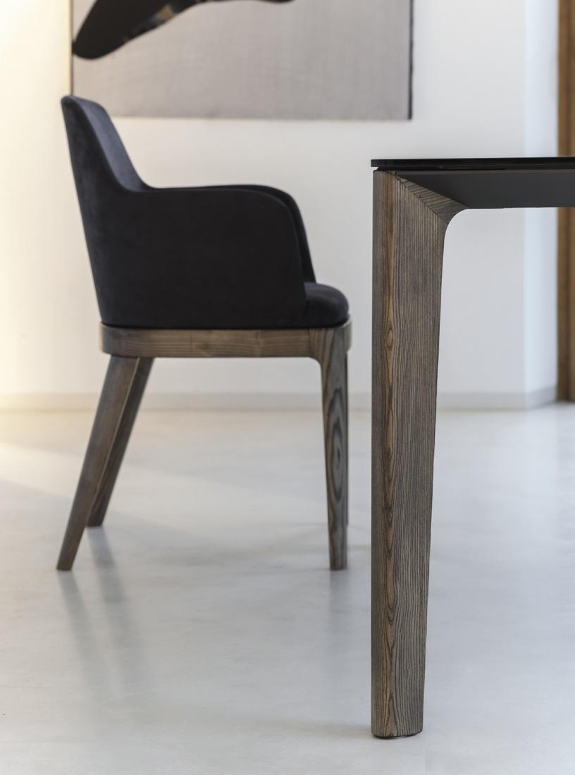 Tavolo allungabile di Bontempi Versus con gambe legno; piano legno o ...