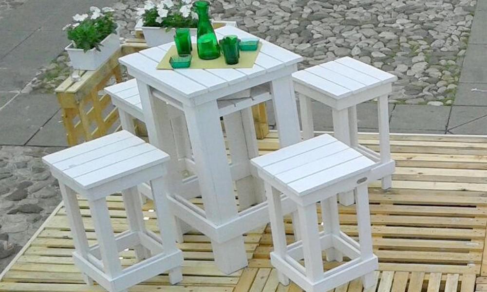 Tavoli Alti Legno : Tavolo alto da bar da giardini per interno e per ristorante in legno