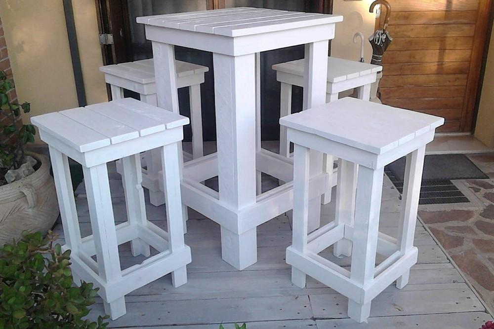 Tavolo alto da bar da giardini per interno e per ristorante in legno