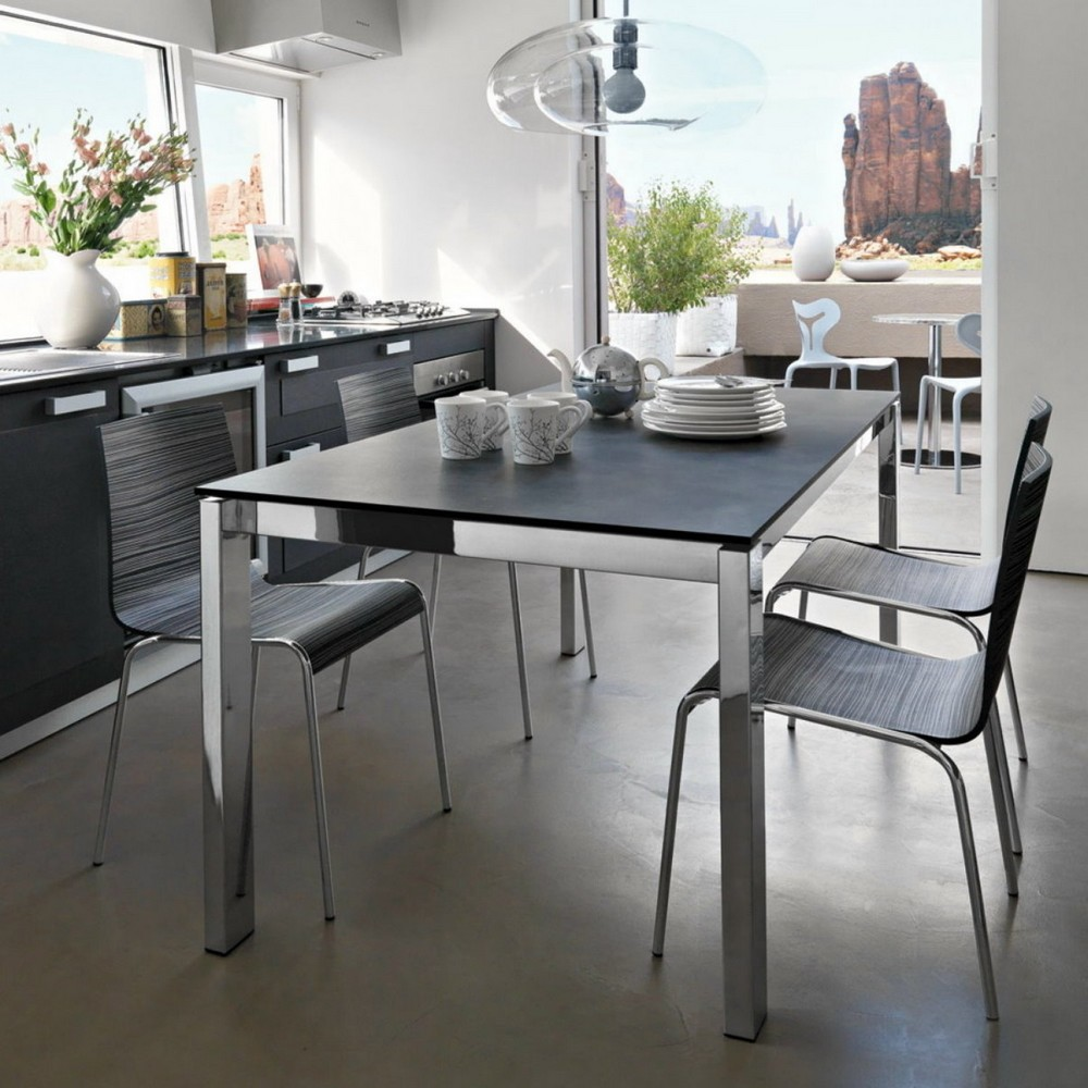 Tavolo allungabile baron 130 di connubia con piano in for Calligaris tavolo allungabile