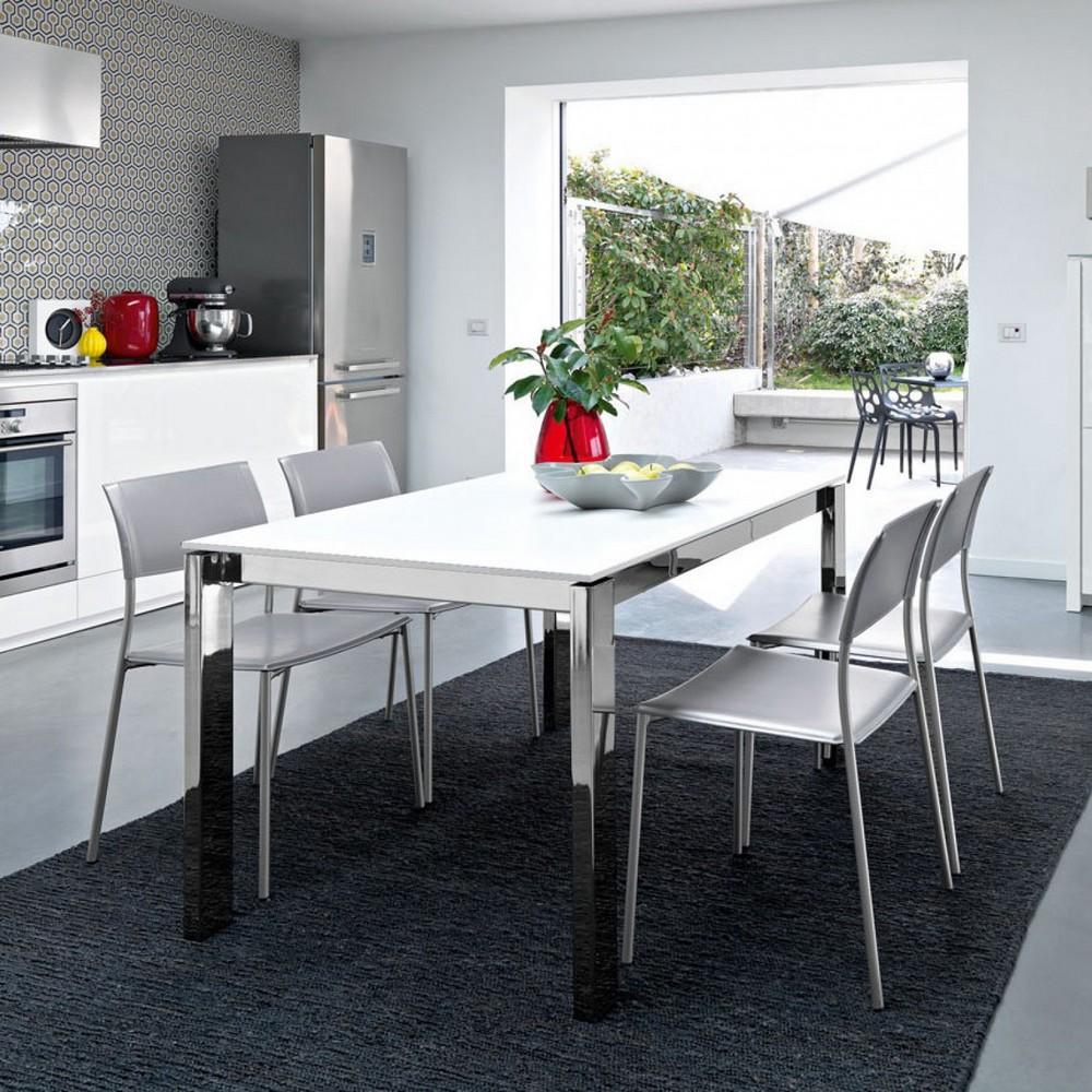 Tavolo vetro cucina tavoli cristallo moderni | Pattinatorisambenedettesi