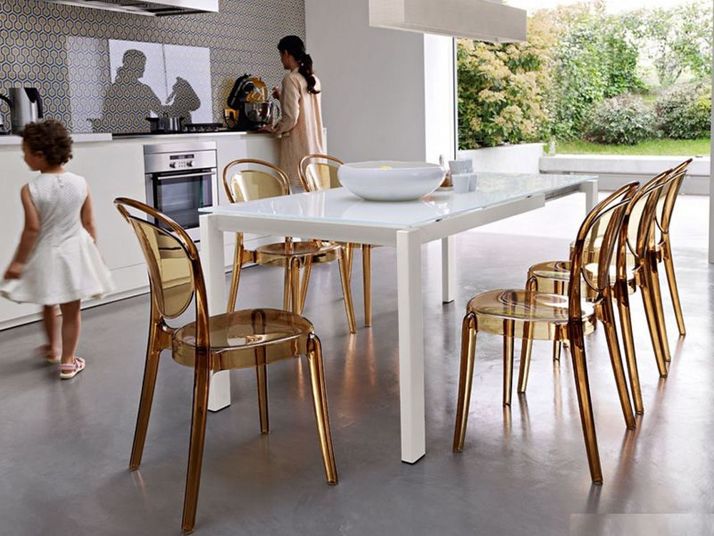 Baron extending table 130 with top Connubia ceramic or tempered glass